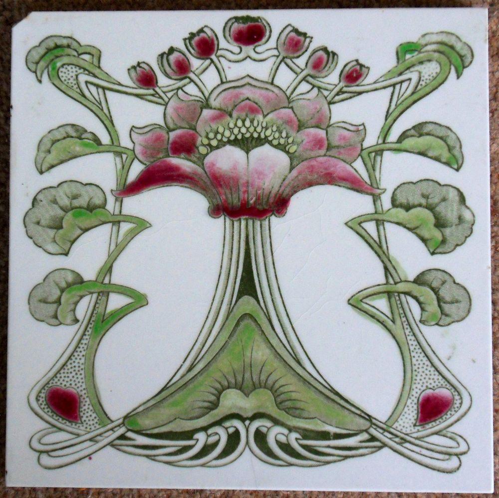 Marsden art nouveau design c19046 ref 638 artnouveau art nouveau marsden art nouveau design ref 638 ceramic tile dailygadgetfo Choice Image