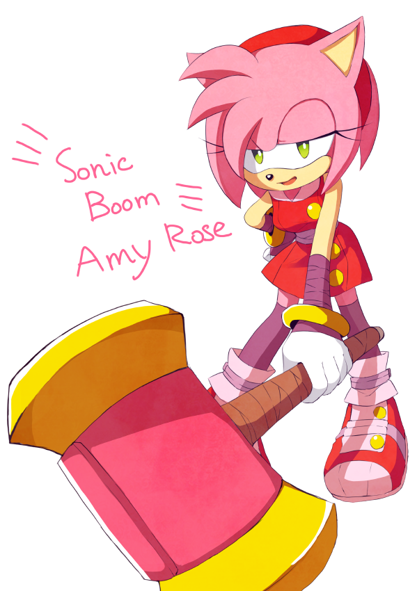 Oh My Word Love This Amy The Hedgehog Sonic And Amy Amy Rose