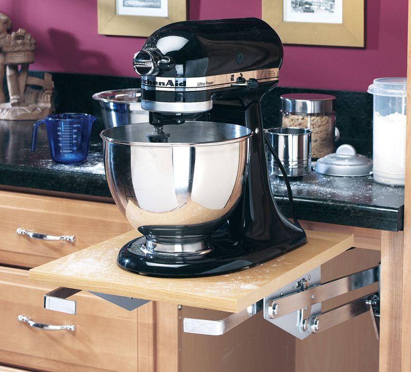Heavy duty mixer lift rev a shelf kitchen aid base