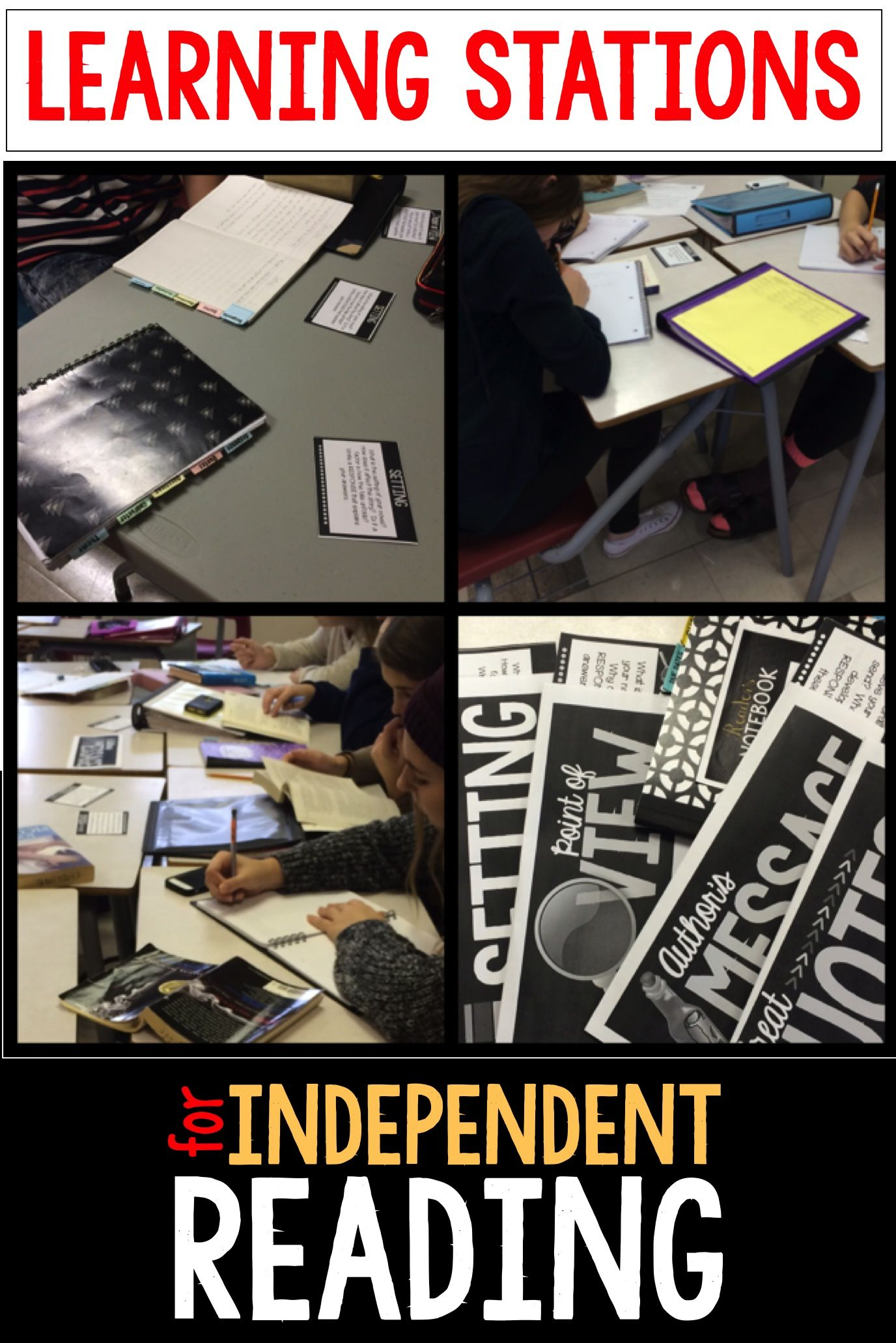 Learning Stations For Independent Reading Use Learning