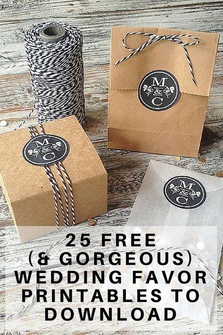 free wedding favor printables