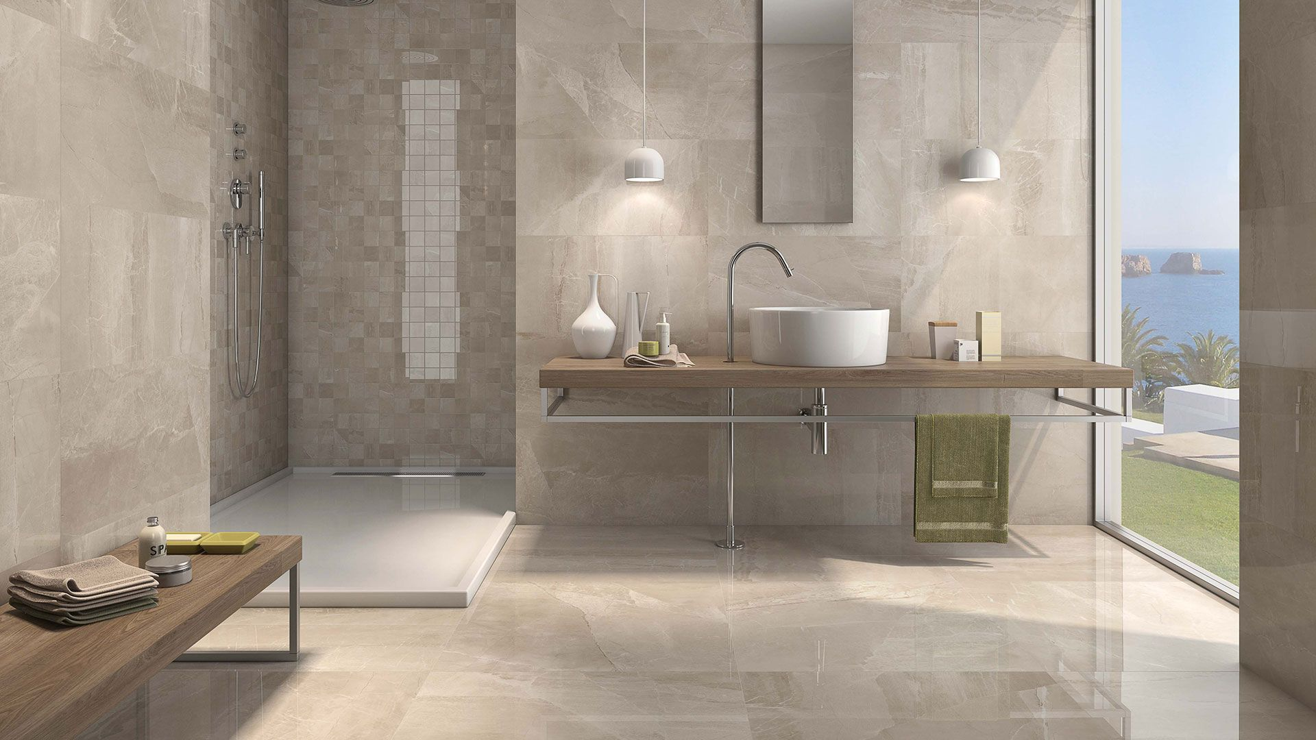 Image Result For Contemporary Taupe Tile Floor 24x24 Residential