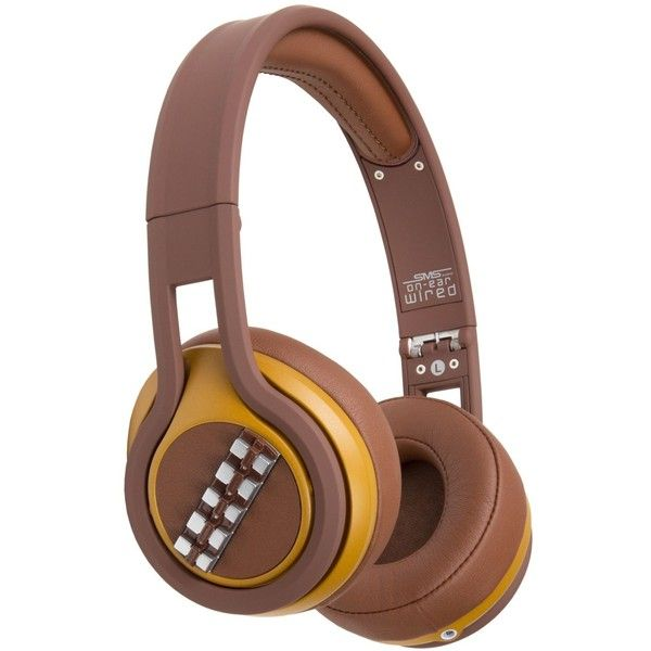 Sms Audio Over-Ear Star Wars Chewbacca Headphones (€92) ❤ liked on Polyvore featuring mens, men's accessories, men's tech accessories and chewbacca