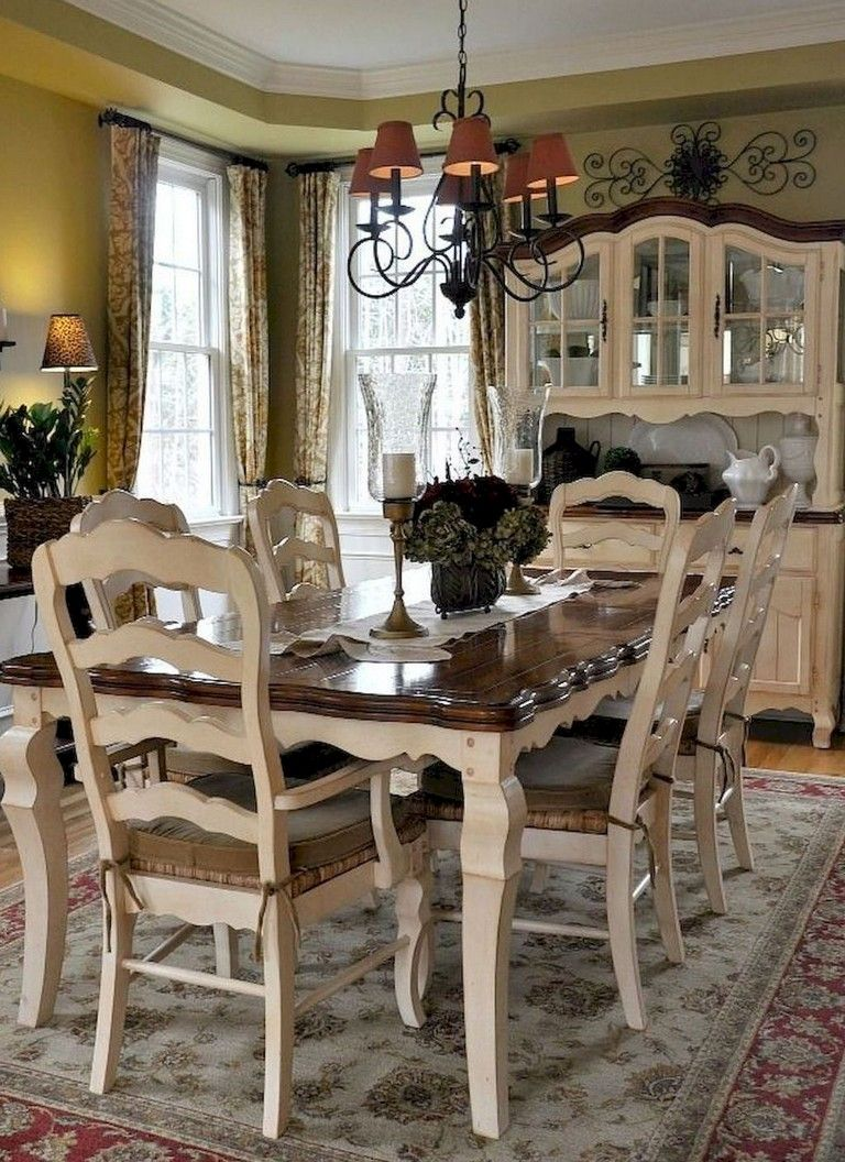 40 Stunning French Country Dining Room Design Ideas French