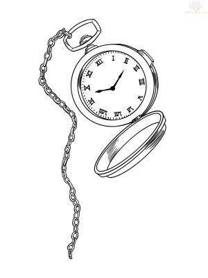 Image Result For Alice In Wonderland Pocket Watch Drawing Watch Tattoo Design Pocket Watch Tattoo Design Pocket Watch Drawing