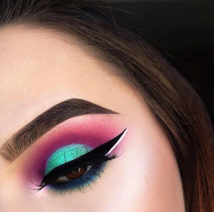 1001 ideen und inspirationen wie sie ihre augen schminken schn geschminkt make up fr braune augen lidschatten in lila und blau thecheapjerseys Images