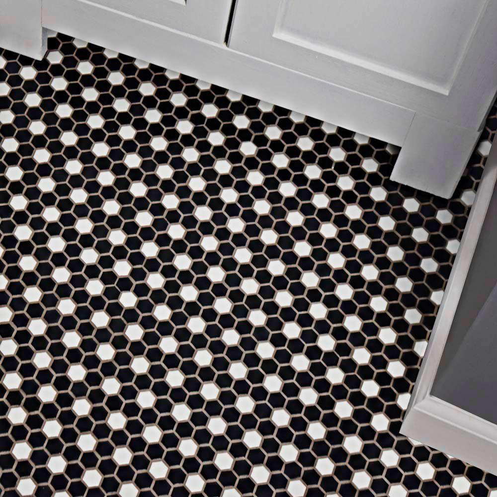 merola tile metro mini hex matte black