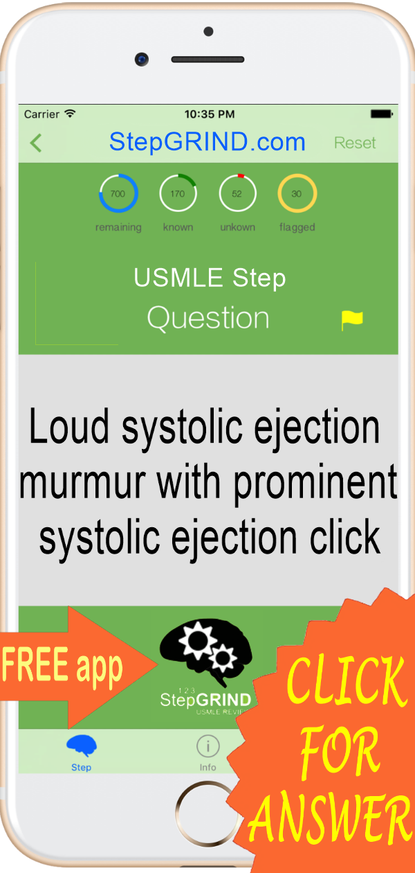 Answer: Aortic stenosis  FREE USMLE review app for Step 1,2,3