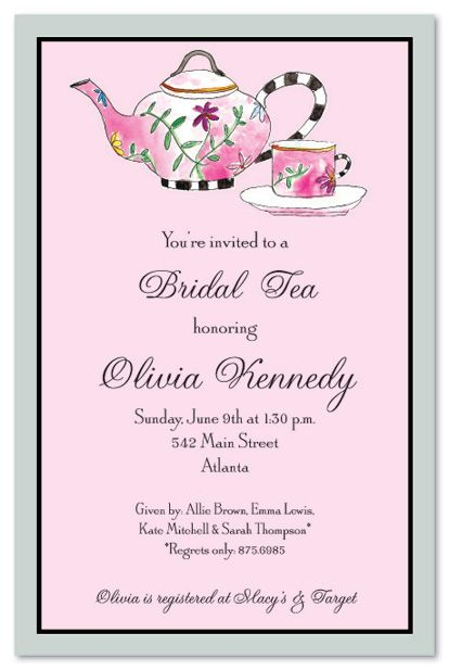 wedding afternoon tea invitation wording - Google Search Afternoon - invitation template bridal shower