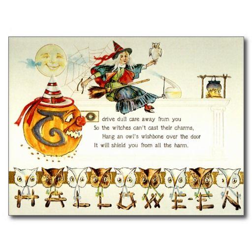 Vintage Victorian halloween Postcards | victorian halloween postcards customize your halloween greetings ...