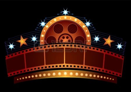 Cinema Neon Neon Stock Vector Graphics Design Cinema