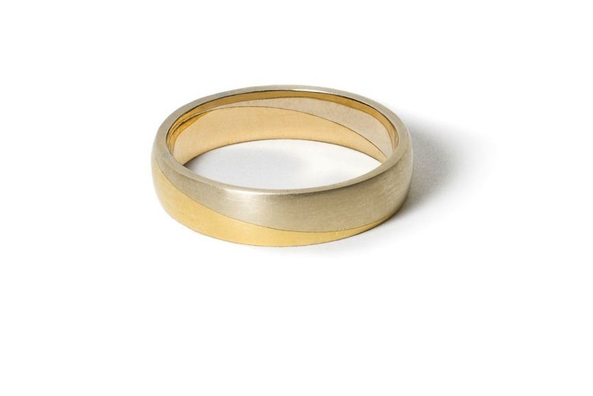 White And Yellow Gold Mixed Metal Wedding Band If You Want The Best Officiant For