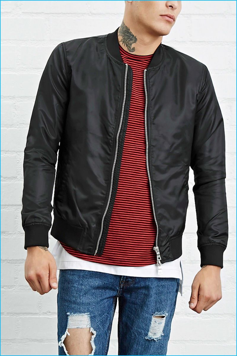 Forever 21 Men Revisits Grunge Style For Pre Fall Bomber Jacket Mens Swimwear Forever 21 Men [ 1200 x 800 Pixel ]