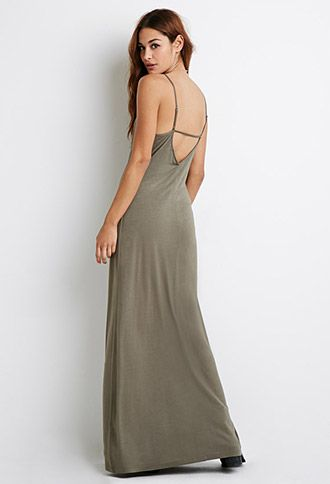 Cutout-Back Cami Maxi Dress | Forever 21 - 2000079971 | Clothes ...