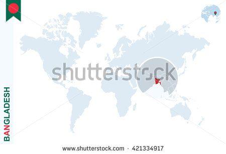 Pin by cristian chiriac on bangladesh pinterest bangladesh world map with magnifying on bangladesh blue earth globe with bangladesh flag pin zoom on map gumiabroncs Images