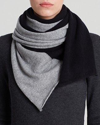 C by Bloomingdales Angelina Cashmere Two Tone Scarf