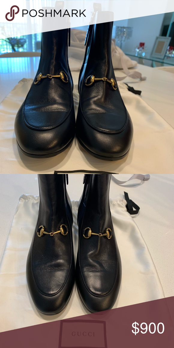 f789f975b6f Gucci - Jordaan Leather Bootie - Never Used Gucci - Jordaan Leather Bootie  Black Gucci Shoes Ankle Boots   Booties