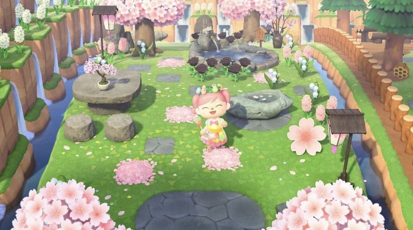 Cherry Blossom Garden Animal Crossing New Animal Crossing Garden Animals