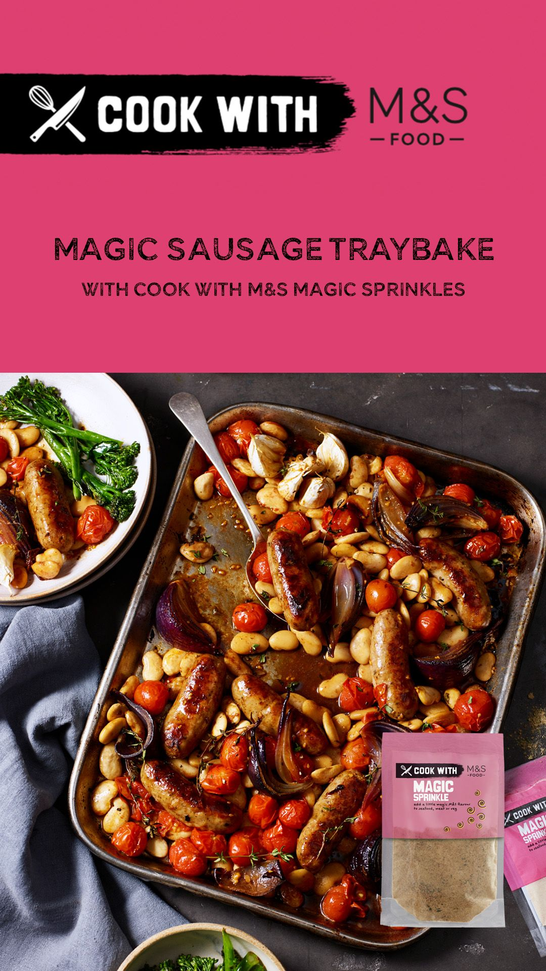 Cook With M S Magic Sausage Traybake In 2020 Food Cooking Hearty Dinner Recipes