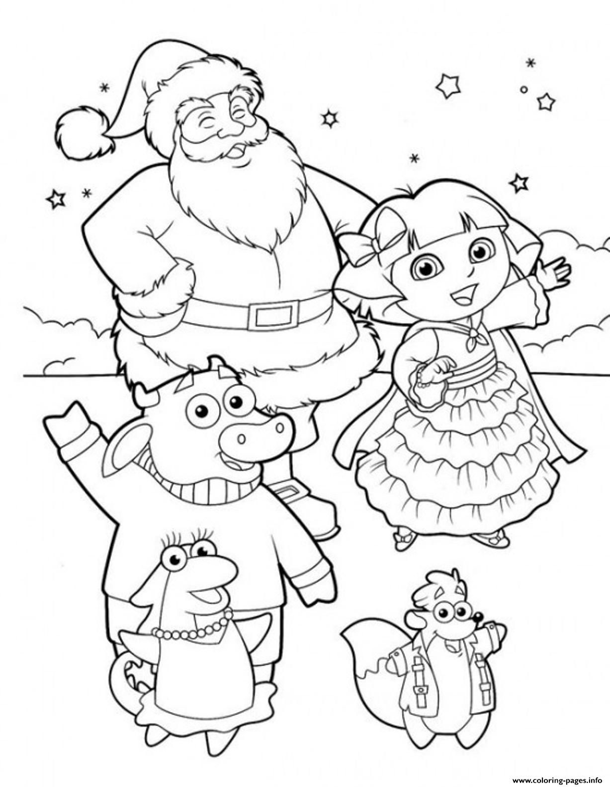 Dora The Explorer Christmas Coloring Pages Coloring Pages Allow Kids To Accompany Their F Bubble Guppies Coloring Pages Dora Coloring Cartoon Coloring Pages