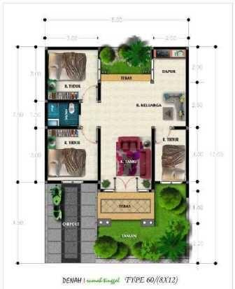 rumah minimalis 1 lantai 3 kamar tidur +garasi +teras