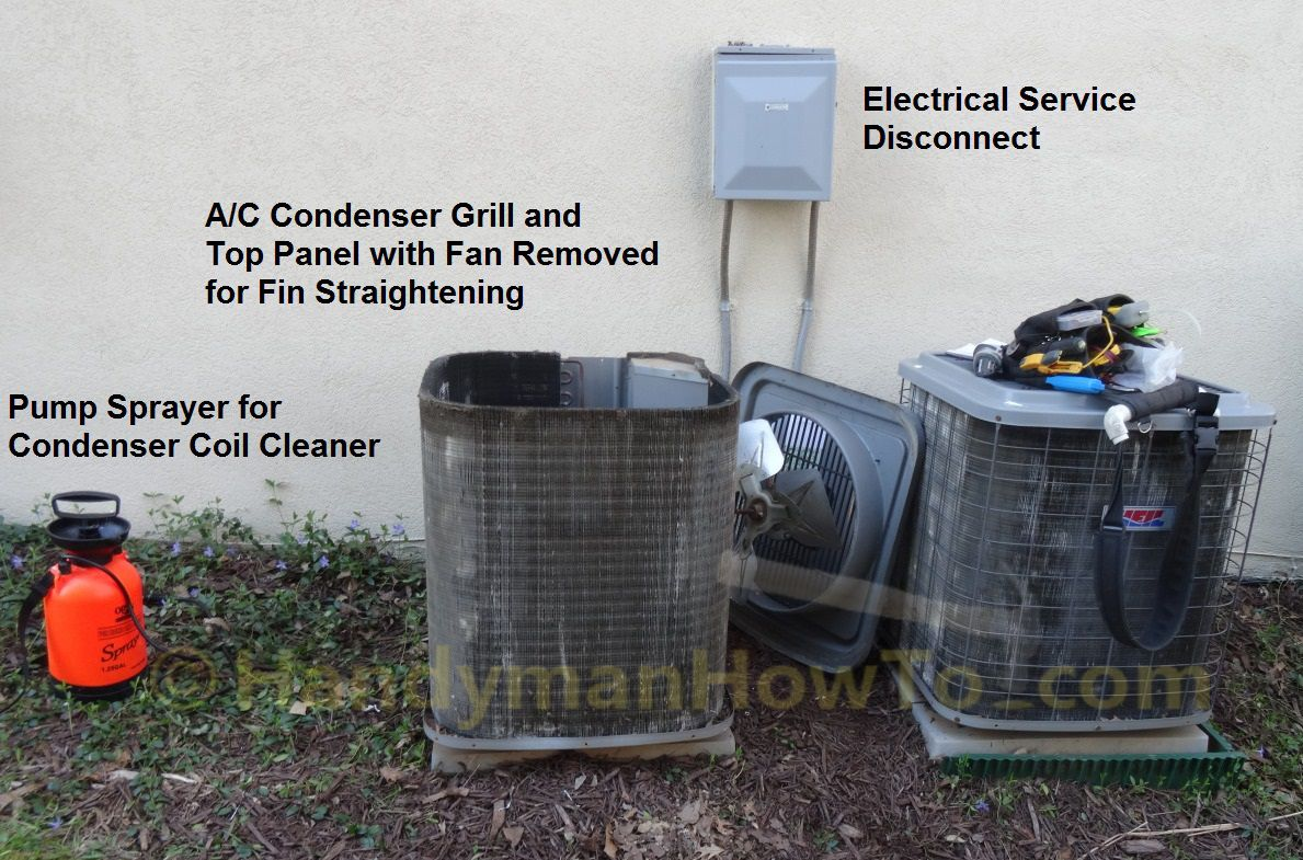 How To Clean And Straighten Ac Condenser Coils With Photos