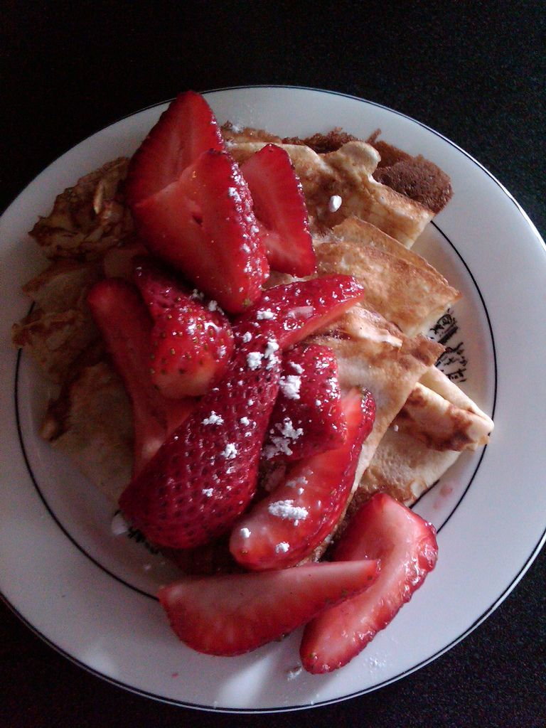 Strawberry Crepes :)