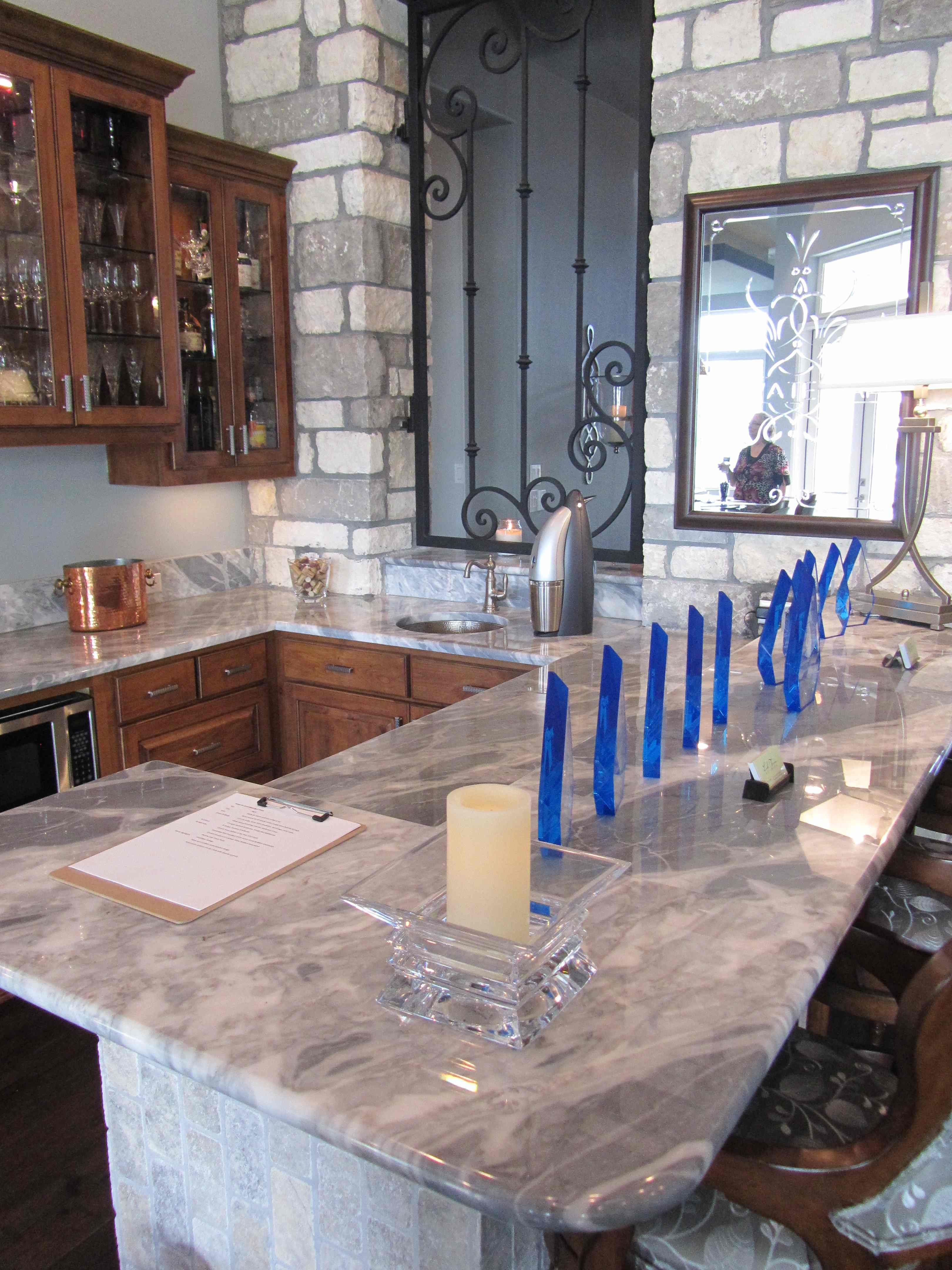 calacatta blue marble kitchen countertop stone natural