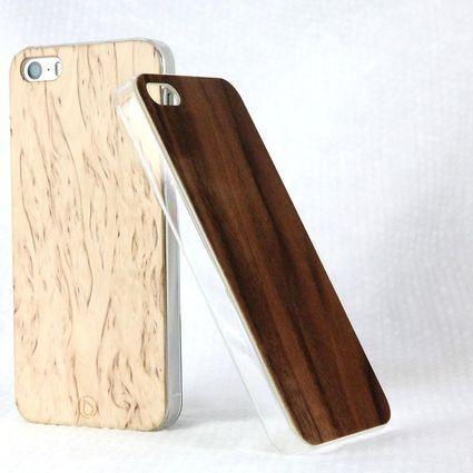 Lastu Cover iPhone 5/5S Pähkinä | Weecos