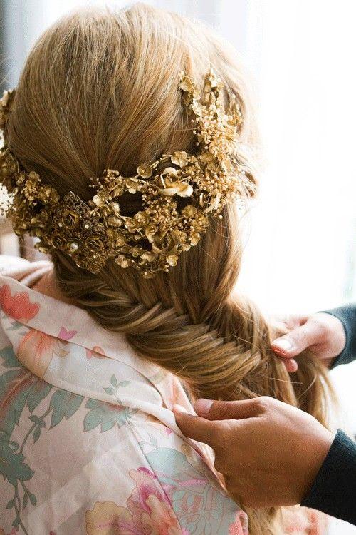 Hermosa Trenza.peinado de novia