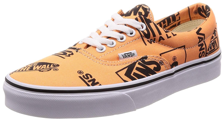 783d3cd9b28 Vans VN-0A38FRU8K  Mens Era Tangerine Black Sneakers (5 D(M) US Men ...