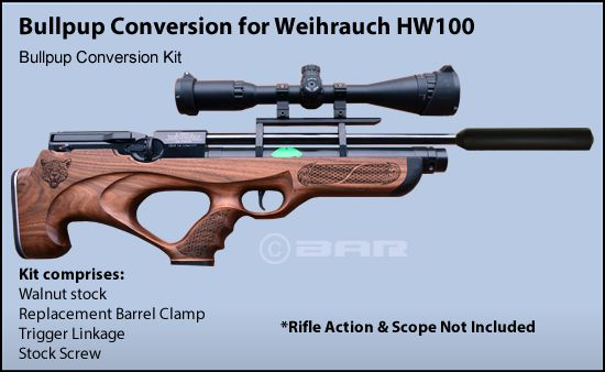 Weihrauch HW100 Kit comprises: Walnut stock Replacement