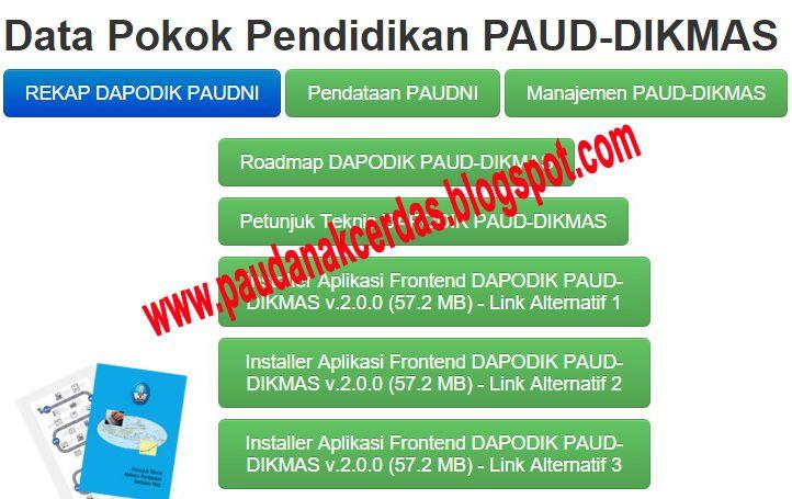 Paud Anak Cerdas Download Dapodik Paud Dikmas V 2 0 2 Personal Care Tips Person