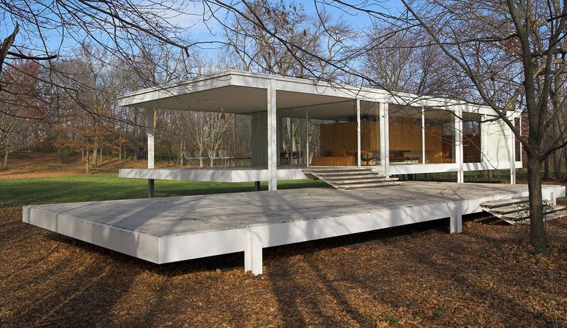 modernisme ludwig mies van der rohe farnsworth house. Black Bedroom Furniture Sets. Home Design Ideas