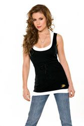 Touch by Alyssa Milano Anaheim Ducks 2-Layered Racer Back Tank Top