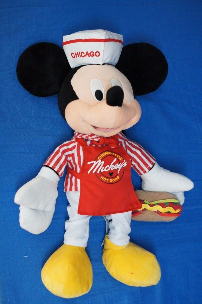Mickey Mouse Mickey S Chicago Style Hot Dog 15 Plush Doll
