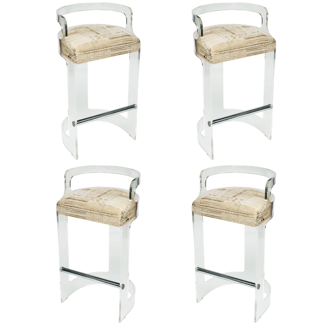 Four Lucite Bar Stools Style of Charles Hollis Jones | Modern ...