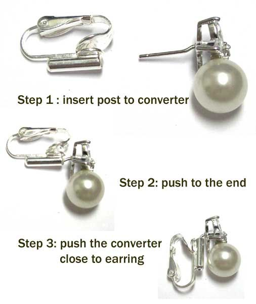 ace8951ec To use: 1) Insert your post earring vertically into the barrel on the front  of the clip earring.