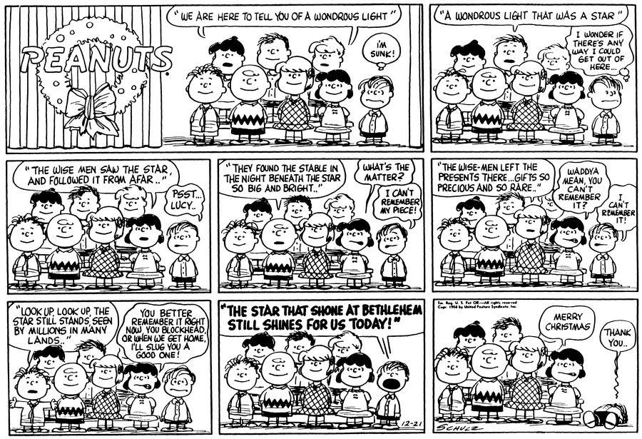 Dec 21, 1958.  Oh sweet Linus!