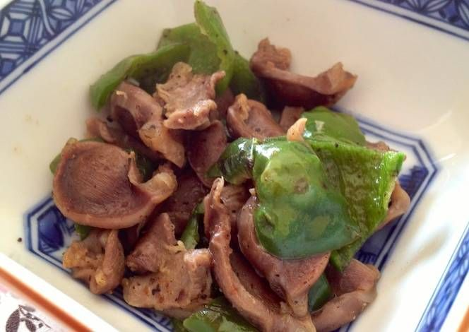 Drinking Appetizer In 5 Minutes Chicken Gizzard And Green Pepper