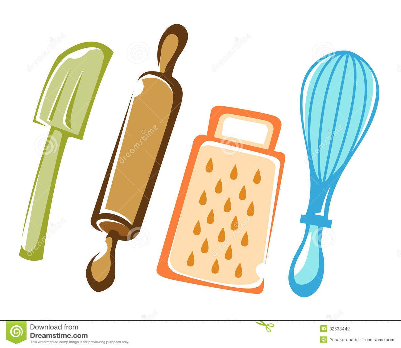 Kitchen Shears In Baking: Cooking And Baking Kitchen Tools Stock Photography