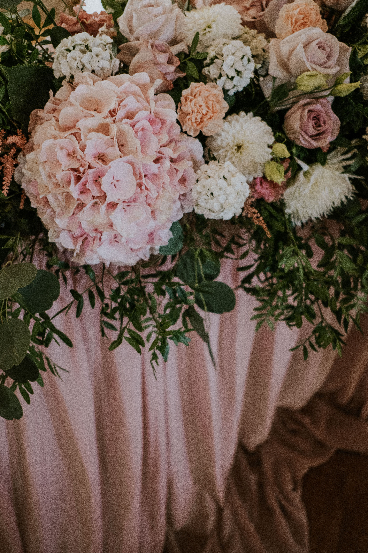 Sierpniowe Kwiaty Floral Wreath Table Decorations Floral