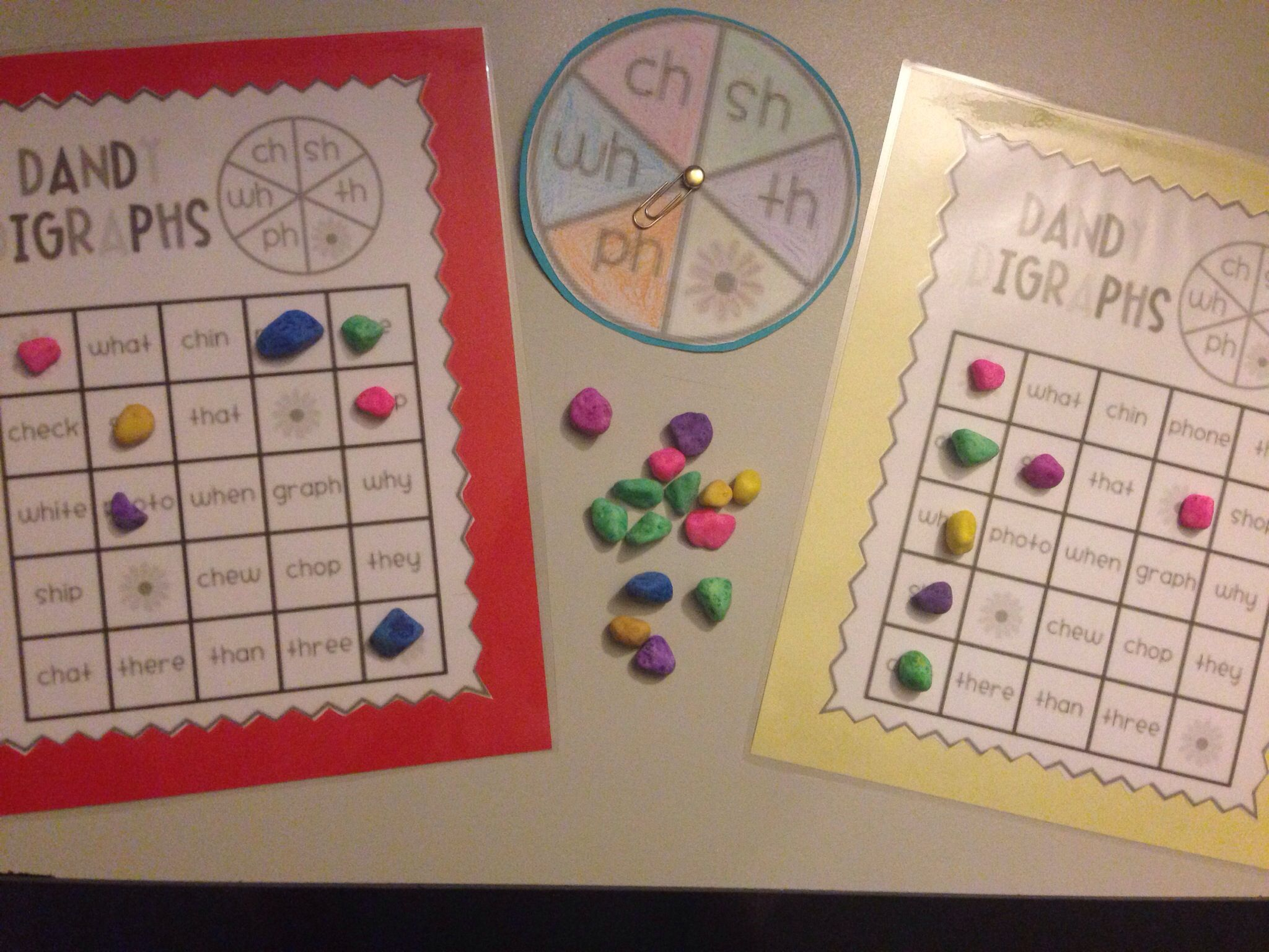 Digraph Bingo With A Spinner