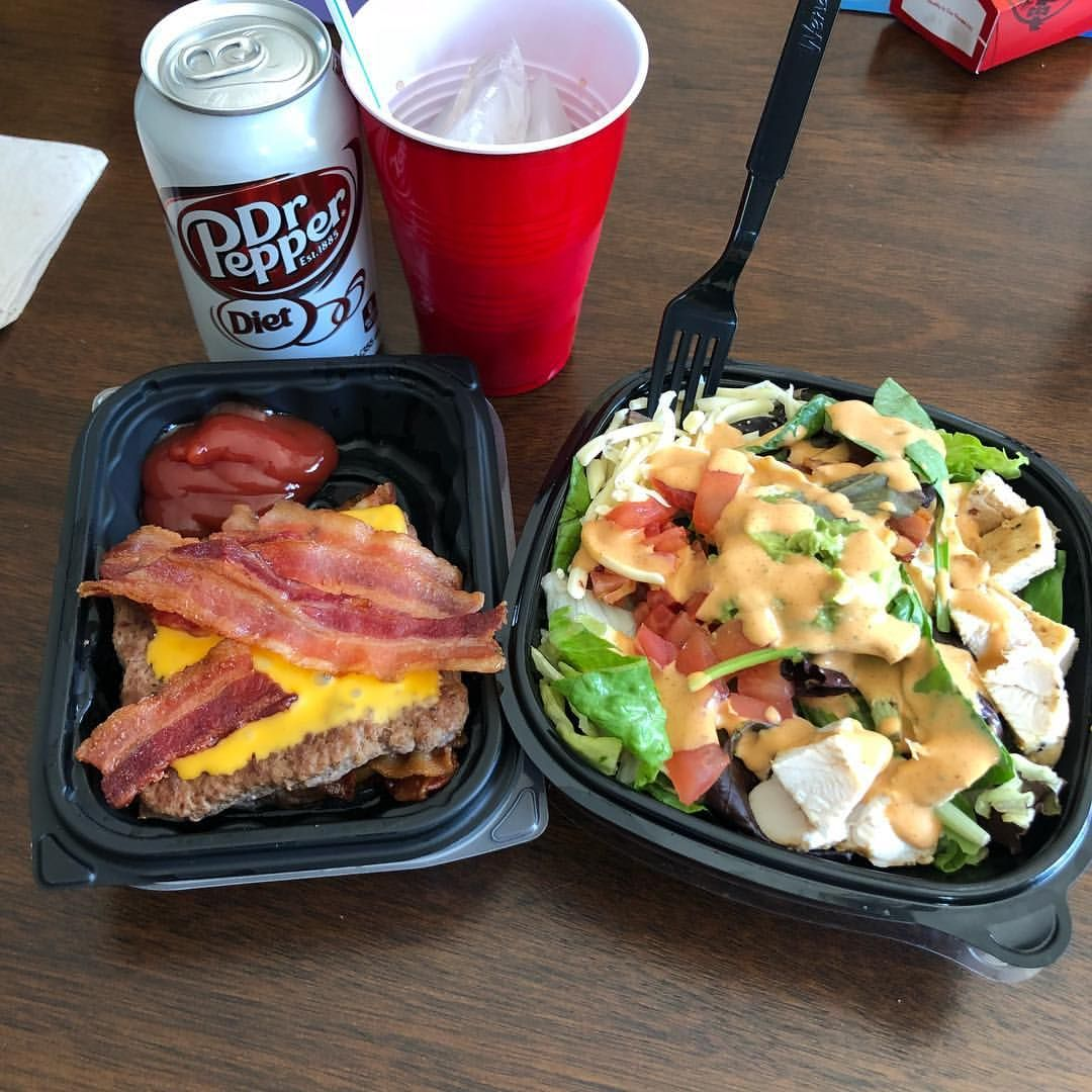 I copycatted Amy's (rockon_keto_rn) Wendy's order for