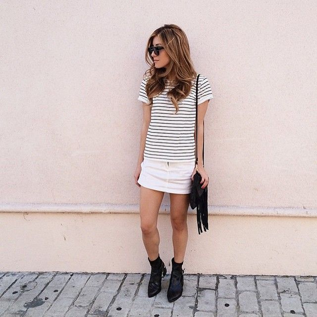 """""""Happy #HumpDay! Can't go wrong with stripes + fringe! (shop link in bio)"""""""