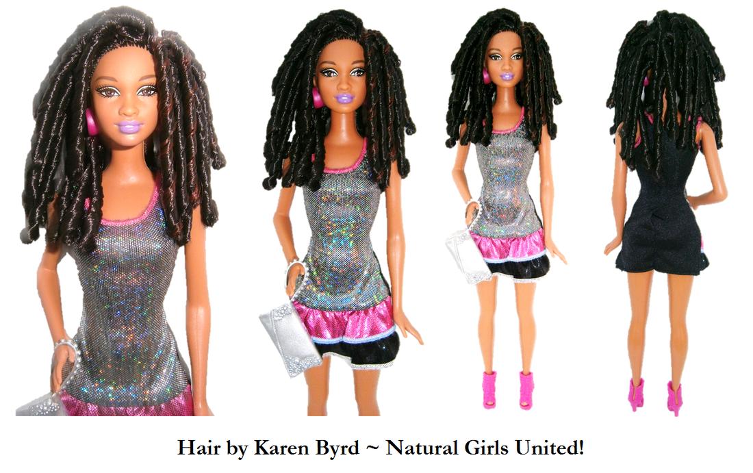Spiral Curls Doll. Hair By Karen Byrd. Natural Girls