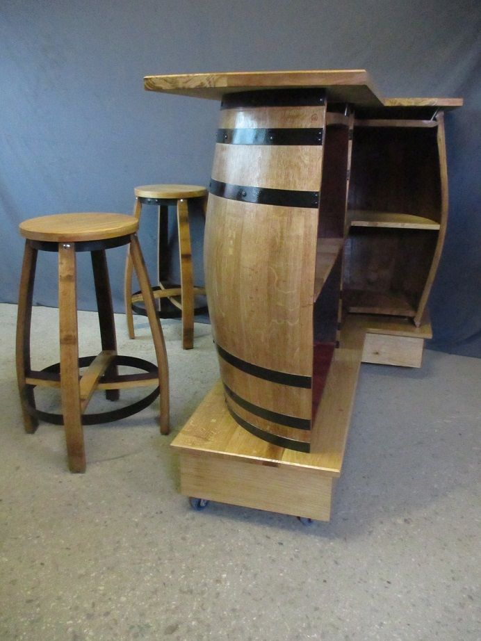 Pin By Kate Howard On Wine Ideas Barrel Furniture Diy Home Bar