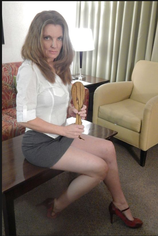 Bend over knee spanking