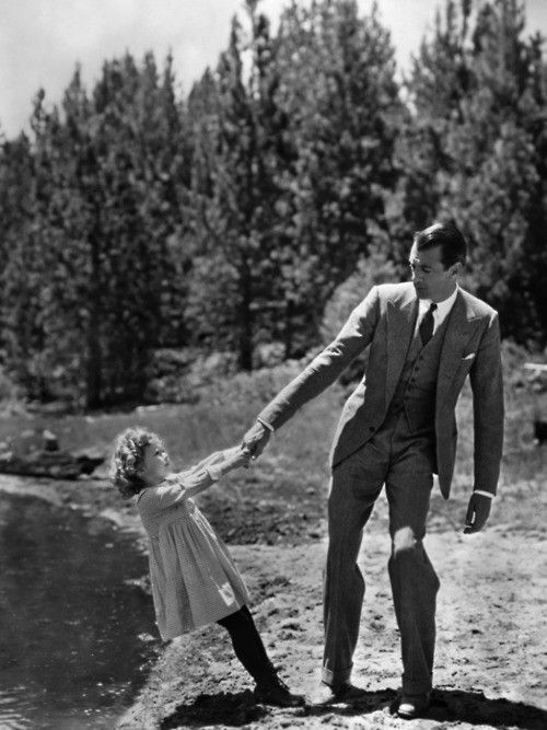 shirley temple and gary cooper.