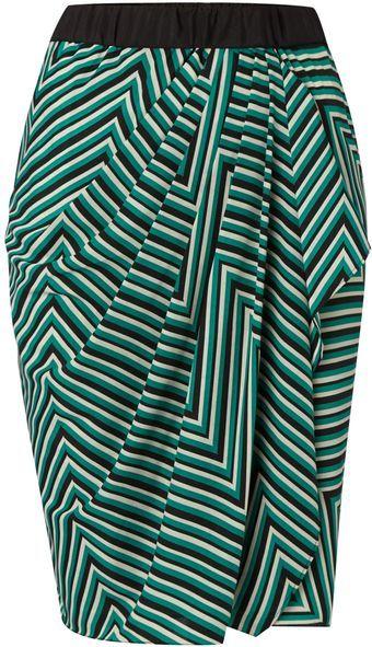 Linea Cutabout Stripe Wrap Skirt - Lyst